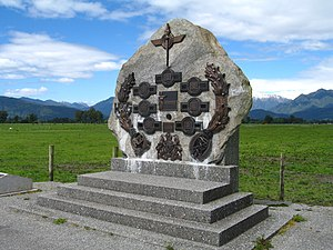 Hokitika - Memorial for the 1941 shooting, Kowhitirangi