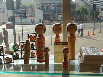 Japanese American National Museum - Image: Kokeshi at The Japanese American National Museum