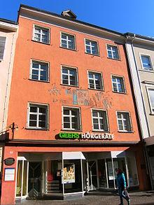 Konstanz, Hussenstraße 17: Wohnung von Franz Anton Mesmer von 1812 bis 1814 (Quelle: Wikimedia)