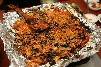 Bokkeum-bap - Image: Korea Busan Haeundae Market Bokkeumbap Fried rice 01
