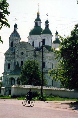 Ivan Hryhorovych-Barskyi - The Church of the Nativity of the Mother of God (1752–1764), in collaboration with Andrey Kvasov in Kozelets.