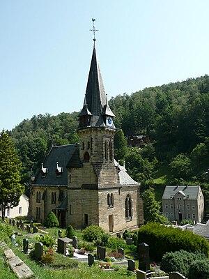 Bad Schandau - View of Krippen Church