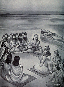 Krishna and sages instructing Yudhisthira.jpg