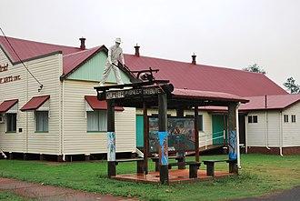 Kumbia, Queensland - Kumbia Pioneer tribute beside the Memorial School of Arts hall