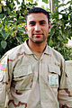Kurdish US Army soldier, Dohuk, Kurdistan, northern Iraq, 07-23-2005.jpg