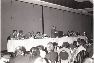 Paul Kurtz - Kurtz addresses the Banquet at the 1983 CSICOP Conference in Buffalo, NY