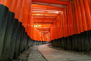 Fushimi Inari-taisha - Torii leading to the outer shrine