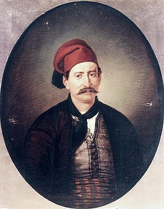 Spetses - Portrait of Ioannis Kyriakou, fighter of the Greek War of Independence, from Spetses.