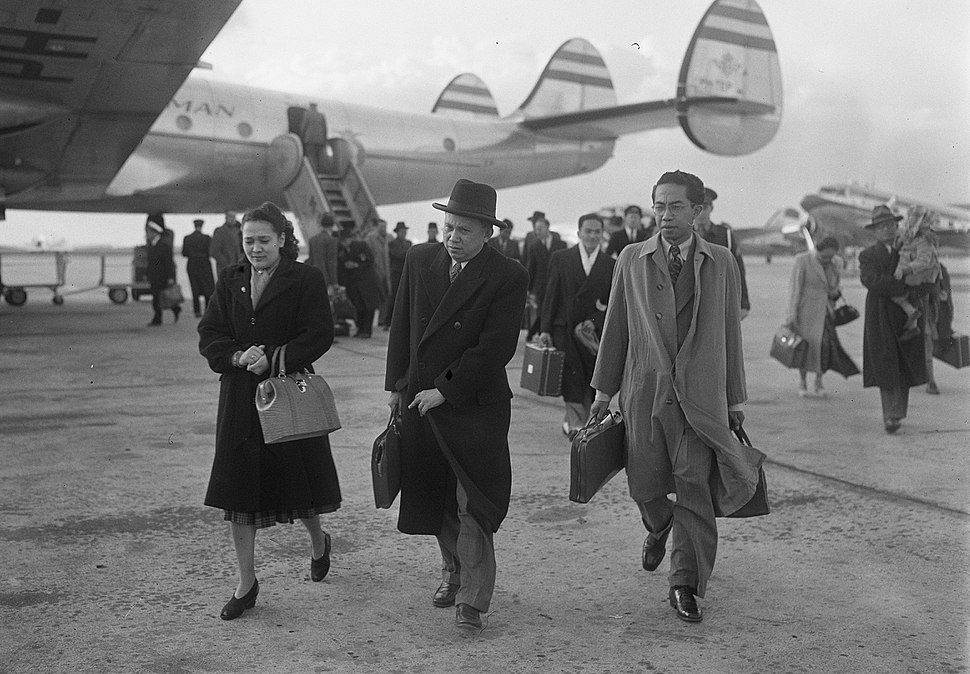L.N. Palar Arriving in the Netherlands (1950)