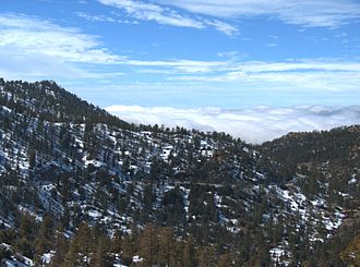 California State Route 2 - Angeles Crest Highway as it winds through the Angeles National Forest.