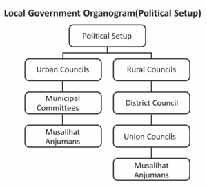 Barkhan District - Local government organogram (political)