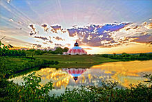 The LOTUS Shrine in Yogaville, Virginia at the Satchidananda Ashram