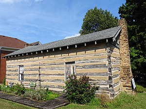 Ruby Laffoon - Born in this log cabin, now in downtown Madisonville