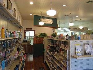 Lake City, Florida. Interior of drug store.
