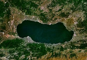 İznik Ultramarathon - Lake İznik from space.