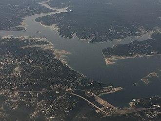 Lake Travis - Image: Lake Travis aerial 2018