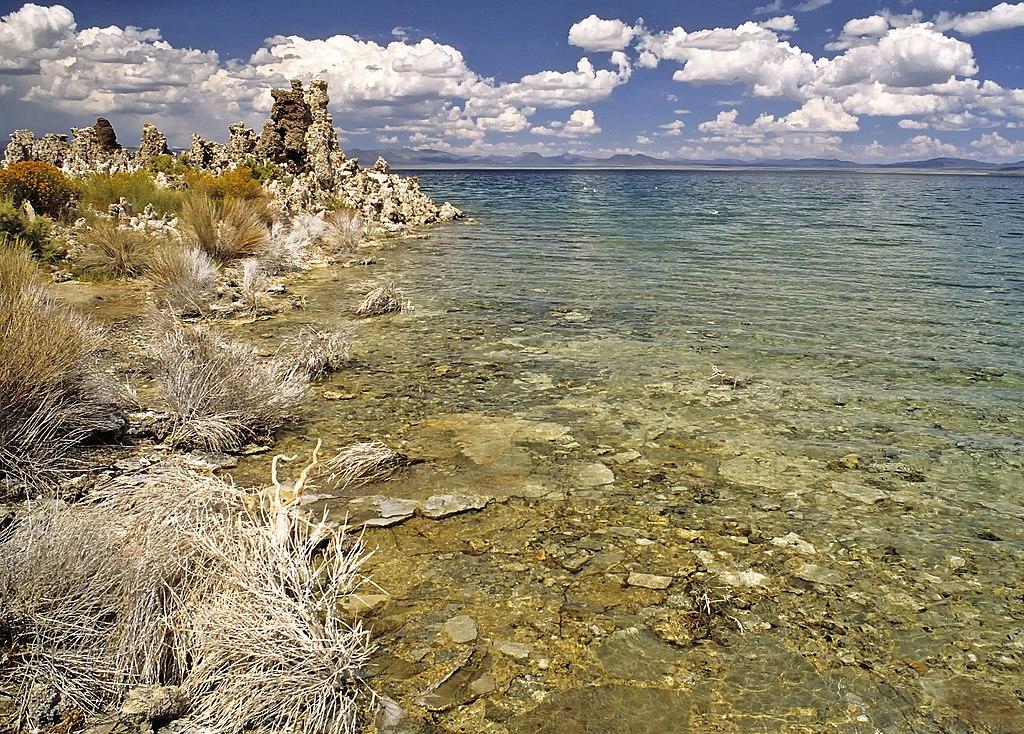 Les rives du Mono Lake, dans l'est de la Californie (États-Unis). (définition réelle 1890×1355)