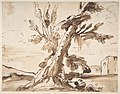 Landscape with Two Men Under a Tree. MET DP810699.jpg