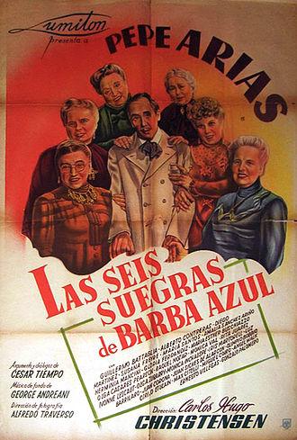 Pepe Arias - Poster for Las seis suegras de Barba Azul (1945)