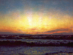 Laurits Tuxen - The North Sea in stormy weather. After sunset. Højen - Google Art Project.jpg