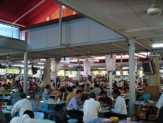 Singaporean cuisine - A hawker centre in Lavender, Singapore