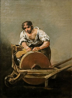 <i>The Knifegrinder</i> (Goya) painting by Francisco de Goya