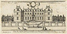 An engraving of Louis XII's château as it appeared in the early 1660s