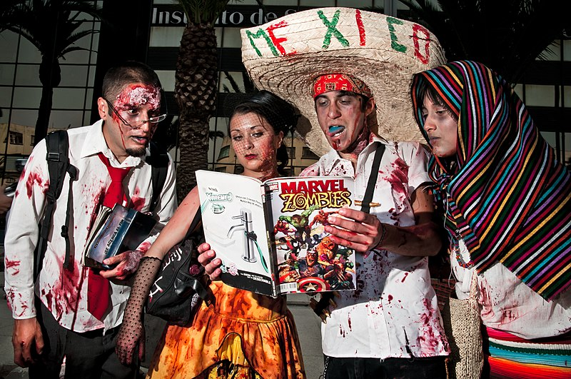 The comics were read... by zombies