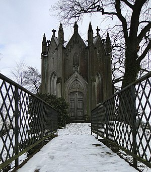 Grave chapel of the von Laffert family on the tower hill