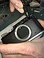 Leica II D aka Couplex rangefinder miror replacement (32785248874).jpg