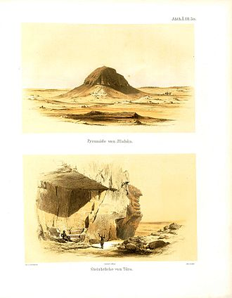 Karl Richard Lepsius - Plates of El-Lahun and Tura from Denkmäler aus Aegypten und Aethiopien.