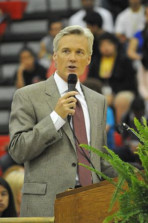 Lewis A. Massey - Massey speaking at Gainesville High School, April 2012.