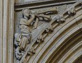 Lincoln Cathedral, Angel with double pipes. (32143012641).jpg