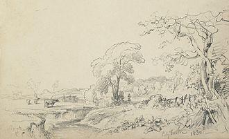 Edgbaston - Cattle graze in Edgbaston in 1830