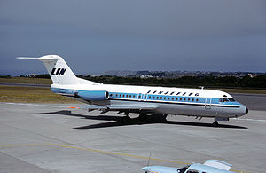Iran Aseman Airlines Flight 746 - A Fokker F-28 similar to the accident aircraft