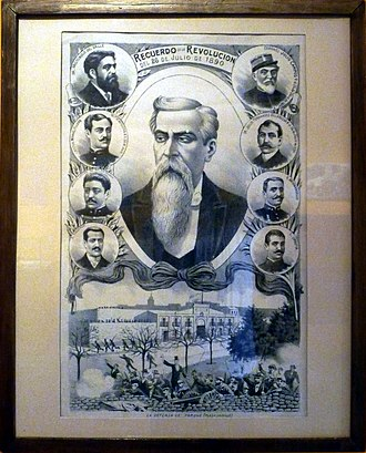 Revolution of the Park - Image: Lithograph commemorating the Revolution of the Park of 1890 (extraction)