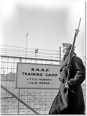 Free Norwegian forces - Guard at the Little Norway training camp in Toronto, Ontario, Canada