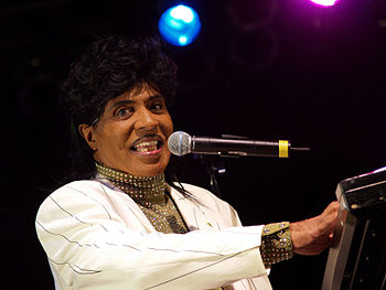 English: Little Richard performing at the Univ...