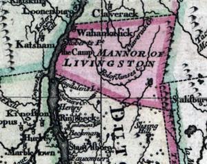 Livingston Manor - Map of Livingston Manor in 1777