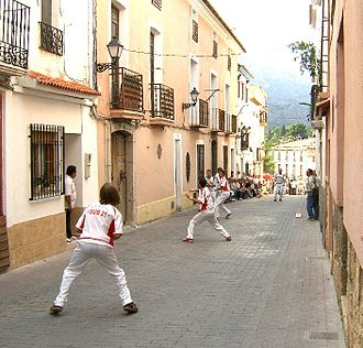 Llargues - Llargues match at the streets of Polop