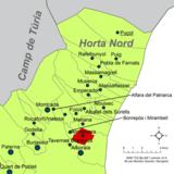 Localització d'Almàssera respecte de l'Horta Nord.png