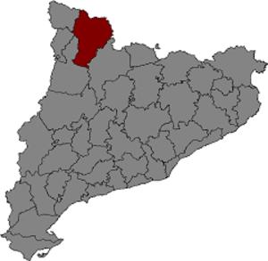 County of Pallars Sobirà - Location of the County of Pallars Sobirà within Catalonia.