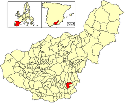 Location of Cádiar