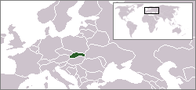 A map showing the location of Slovakia