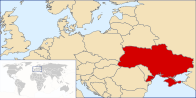 A map showing the location of Ukraine