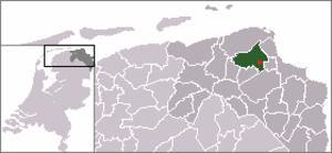 Wirdum, Groningen - Image: Location Wirdum