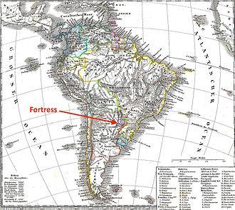 Fortress of Humaitá - Location of Humaitá