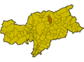 Location of Mühlbach (Italy).png