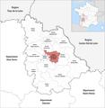 Locator map of Kanton Chasseneuil-du-Poitou 2019.png