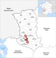Locator map of Kanton La Plaine Niortaise 2019.png